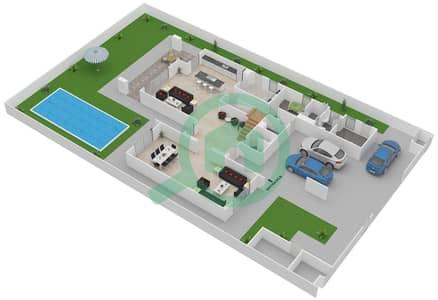 المخططات الطابقية لتصميم النموذج 4F فیلا 4 غرف نوم - ياس ايكرز