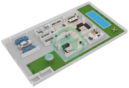 المخططات الطابقية لتصميم النموذج 4G فیلا 4 غرف نوم - ياس ايكرز