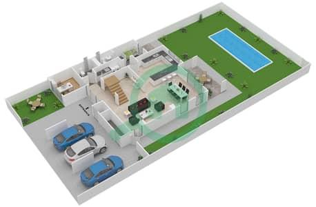 المخططات الطابقية لتصميم النموذج 4Y تاون هاوس 4 غرف نوم - ياس ايكرز