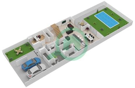 المخططات الطابقية لتصميم النموذج 3MA تاون هاوس 3 غرف نوم - ياس ايكرز