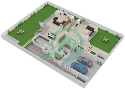 المخططات الطابقية لتصميم النموذج 1A فیلا 4 غرف نوم - وست ياس