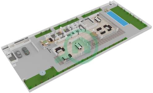 المخططات الطابقية لتصميم النموذج 5B فیلا 5 غرف نوم - حِد السعديات