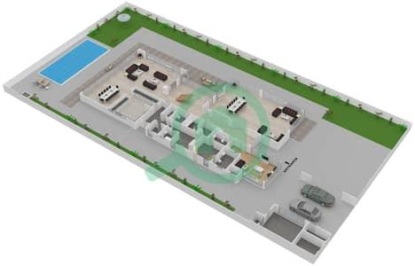 المخططات الطابقية لتصميم النموذج 5A فیلا 5 غرف نوم - حِد السعديات