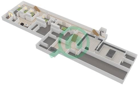 المخططات الطابقية لتصميم النموذج 1 فیلا 7 غرف نوم - حِد السعديات