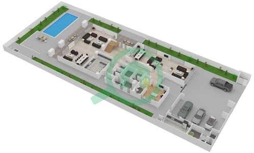 المخططات الطابقية لتصميم النموذج 3B فیلا 7 غرف نوم - حِد السعديات
