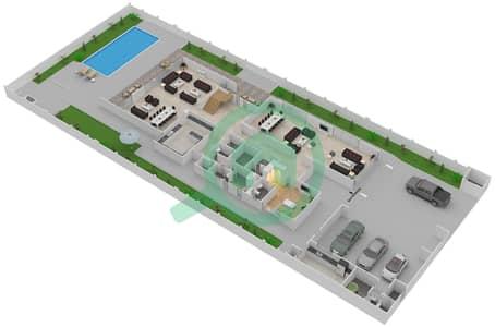 المخططات الطابقية لتصميم النموذج 3A فیلا 7 غرف نوم - حِد السعديات