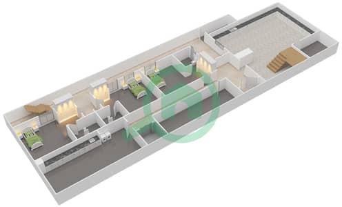 المخططات الطابقية لتصميم النموذج 2B فیلا 6 غرف نوم - حِد السعديات