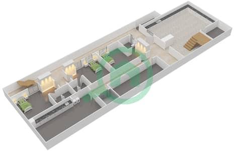 المخططات الطابقية لتصميم النموذج 2A فیلا 6 غرف نوم - حِد السعديات