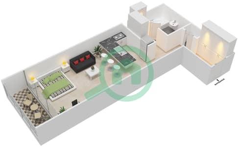 المخططات الطابقية لتصميم النموذج H شقة  - بارك فيو