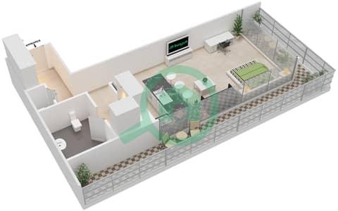 المخططات الطابقية لتصميم النموذج J شقة  - بارك فيو