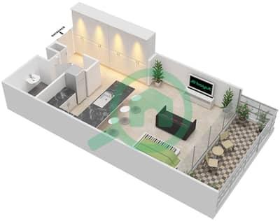 المخططات الطابقية لتصميم النموذج G شقة  - بارك فيو