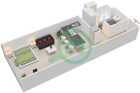 المخططات الطابقية لتصميم النموذج I شقة  - بارك فيو