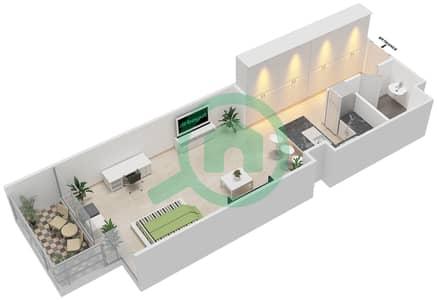 المخططات الطابقية لتصميم النموذج F شقة  - بارك فيو
