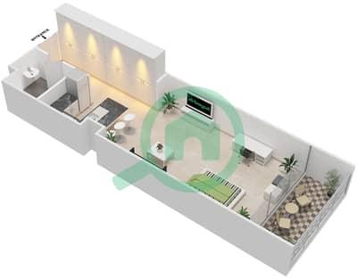 المخططات الطابقية لتصميم النموذج E شقة  - بارك فيو
