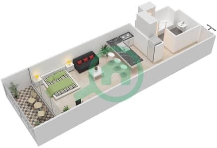 المخططات الطابقية لتصميم النموذج D شقة  - بارك فيو