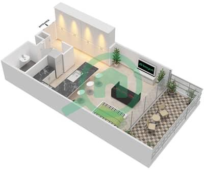 المخططات الطابقية لتصميم النموذج C شقة  - بارك فيو