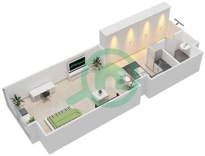 المخططات الطابقية لتصميم النموذج B شقة  - بارك فيو