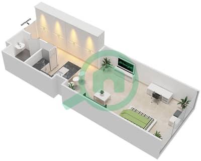 المخططات الطابقية لتصميم النموذج A شقة  - بارك فيو