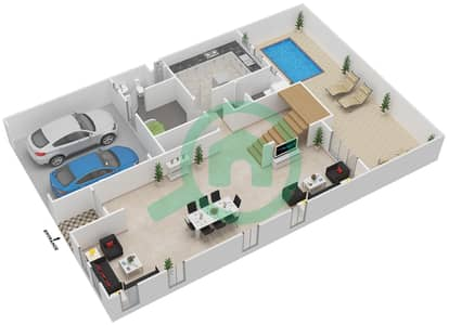 Hydra Village - 6 Bedroom Villa Type E1 Floor plan