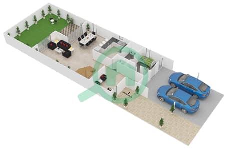 Al Reef Villas - 4 Bedroom Villa Type C Floor plan
