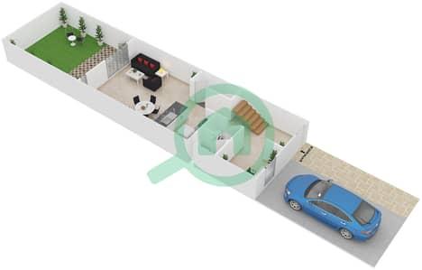 Al Reef Villas - 2 Bedroom Villa Type A Floor plan