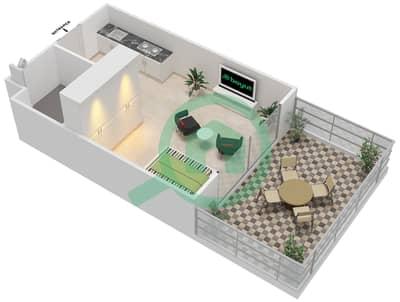 Al Reef Tower - Studio Apartment Type SC-G Floor plan