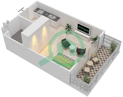 المخططات الطابقية لتصميم النموذج SC-T شقة  - الریف داون تاون