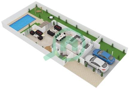 المخططات الطابقية لتصميم النموذج D فیلا 5 غرف نوم - طراز البحر المتوسط
