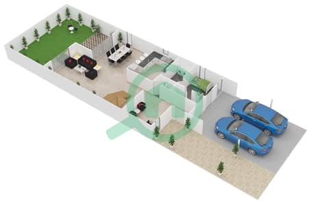 المخططات الطابقية لتصميم النموذج C فیلا 4 غرف نوم - طراز البحر المتوسط