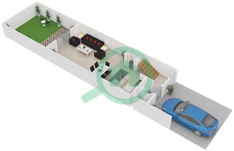 المخططات الطابقية لتصميم النموذج B فیلا 3 غرف نوم - طراز البحر المتوسط