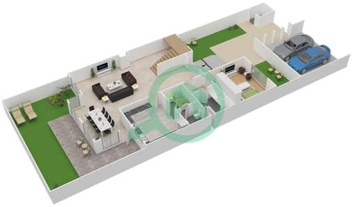 Khuzama - 4 Bedroom Townhouse Type A Floor plan