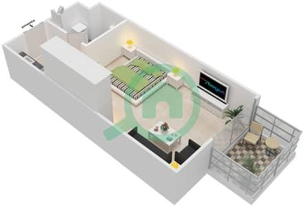 المخططات الطابقية لتصميم النموذج STUDIO شقة  - الراحة لوفتس