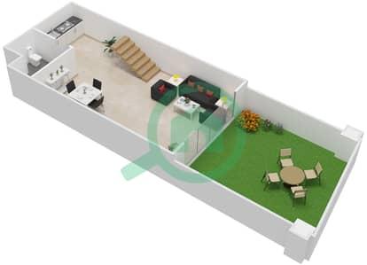 المخططات الطابقية لتصميم النموذج LOFT (LUXURY) شقة 1 غرفة نوم - الراحة لوفتس
