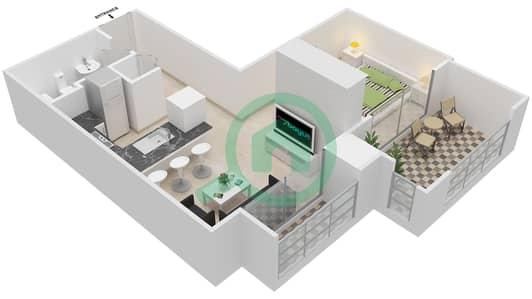 المخططات الطابقية لتصميم التصميم 52 شقة  - تانارو