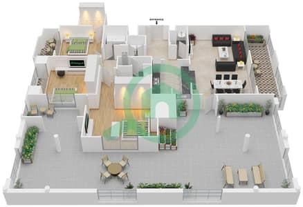 المخططات الطابقية لتصميم التصميم 28 شقة 3 غرف نوم - تانارو