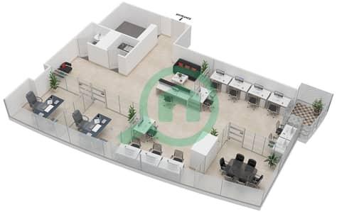 المخططات الطابقية لتصميم النموذج B مکتب  - إنديجو أيكون