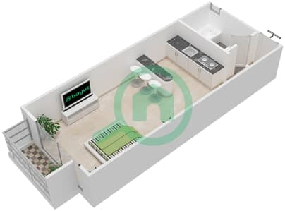 المخططات الطابقية لتصميم النموذج 4B شقة  - برج الصقران