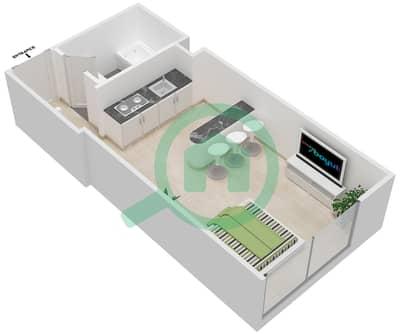 المخططات الطابقية لتصميم النموذج 5B شقة  - برج الصقران