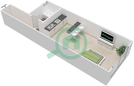 المخططات الطابقية لتصميم النموذج 3B شقة  - برج الصقران