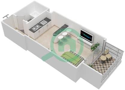 المخططات الطابقية لتصميم النموذج 6 شقة  - برج الصقران