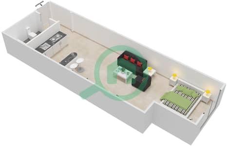 المخططات الطابقية لتصميم النموذج 2B شقة  - برج الصقران