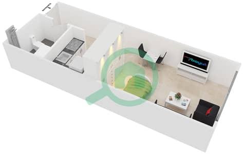 المخططات الطابقية لتصميم النموذج 3,10 شقة  - برج ليك سيتي