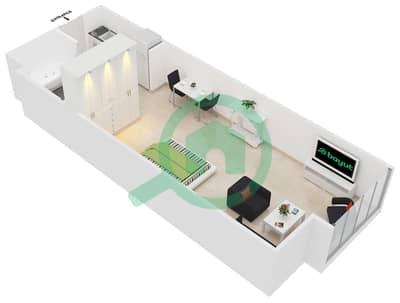 المخططات الطابقية لتصميم الوحدة 3 شقة  - جولد كريست إكزيكيوتيف