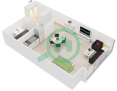 المخططات الطابقية لتصميم الوحدة 2 شقة  - جولد كريست إكزيكيوتيف