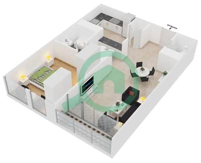 Lakeside Residence - 1 Bedroom Apartment Type B Floor plan
