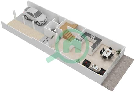 District 5C - 1 Bedroom Townhouse Type 3 Floor plan