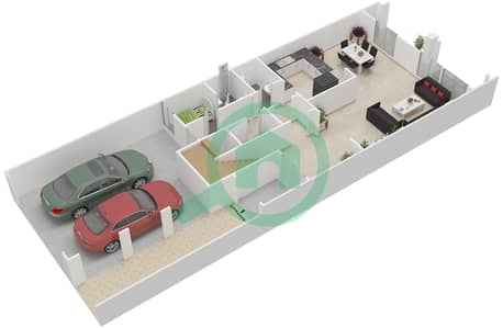 District 5C - 2 Bedroom Townhouse Type 2 Floor plan