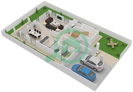 District 5C - 2 Bedroom Villa Type 1 Floor plan