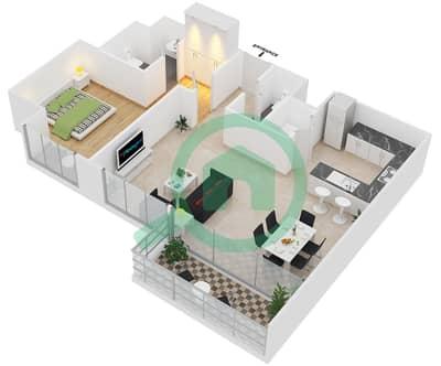 Park One - 1 Bedroom Apartment Type B Floor plan