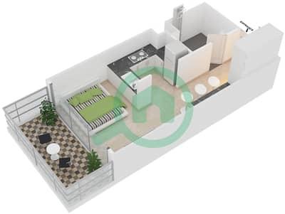 Park One - Studio Apartment Type B Floor plan